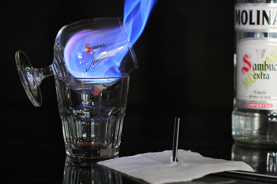 Flaming Sambuca Drink
