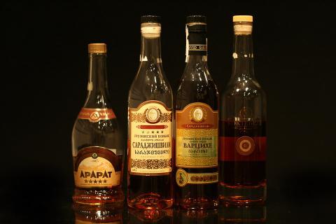 Some bottle with Soviet Brandy (Бутылки с коньяком)