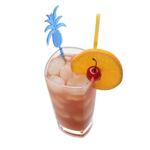 The Sex of the Beach Cocktail garnished with orange wheel and cherry (Коктейль Секс на пляже украшенный кружком апельсина и красной вишней)