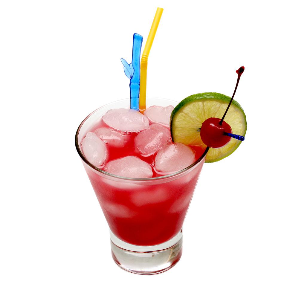 Sex on beach drink garnish