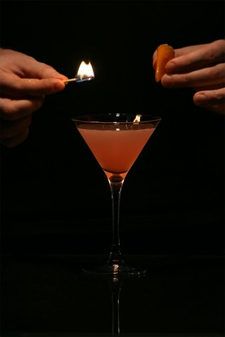 The Flamed Cosmopolitan. Step 1.
