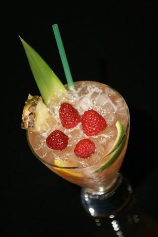The Knickerbocker Punch with beauty fruit and berry garnish (Пунш Никербокер украшенный фруктами и ягодами)