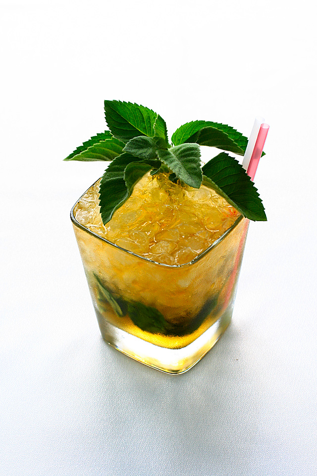 Mint+Julep mint julep panna cotta peach julep cognac julep cocktail ...