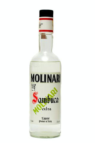 Бутылка самбуки Молинари произведенной для США