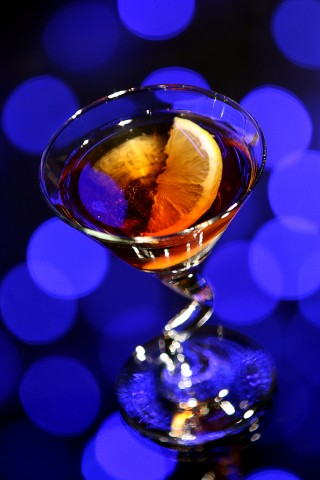 The Louisiana Lullaby Cocktail with bokehlicious background (   c     )