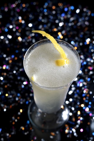 The French 75 Cocktail in the sky full of stars