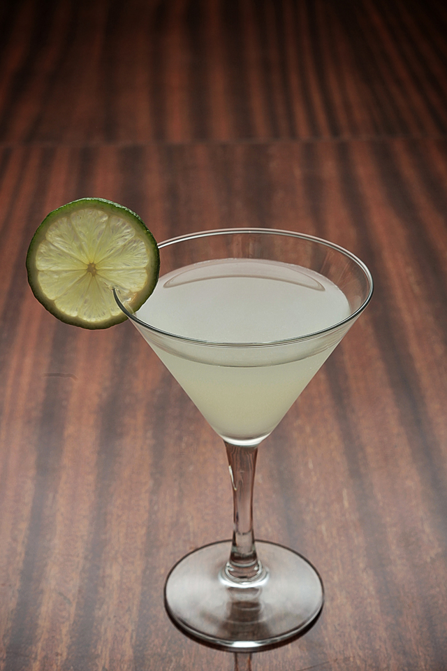 Daiquiri Cocktail garnished with lime wheel