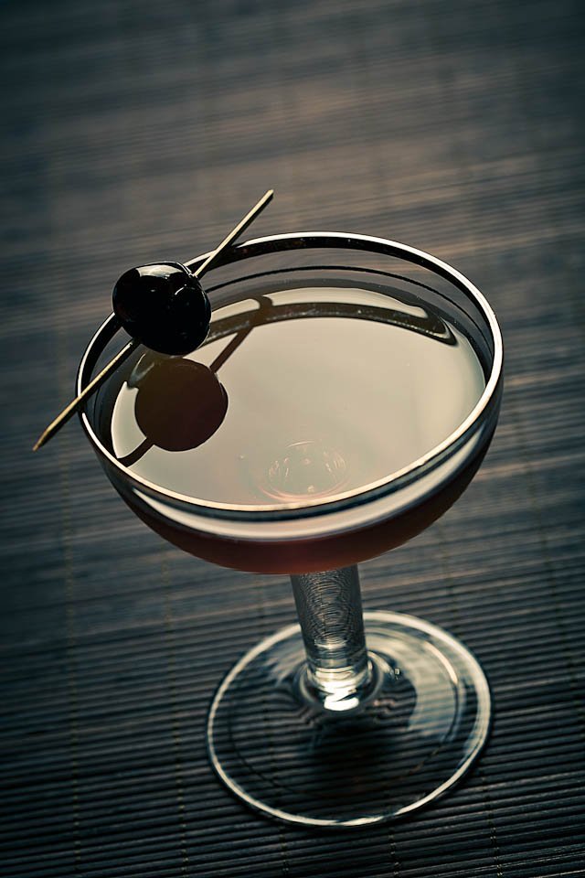 The Creole Contentment Cocktail served in a old coupe glass | ScienceOfDrink.com