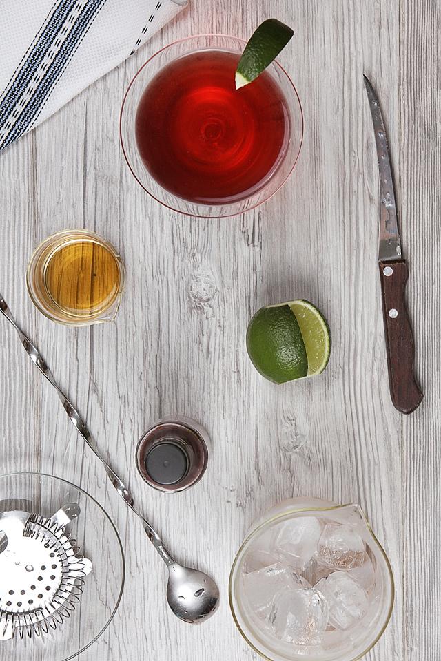 The Crimson Slippers Cocktail Composition | ScienceOfDrink.com