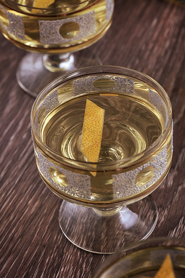 The glass of English Milk Punch | Scienceofdrink.com