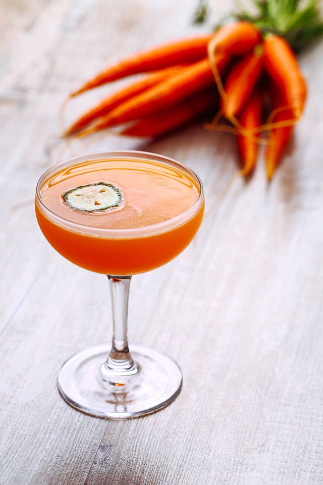 Carrot 43 Martini Cocktail | ScienceOfDrink.com