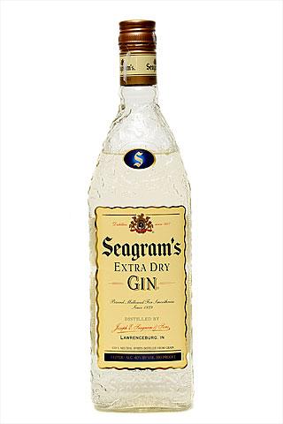 Бутылка джина Сиграмс